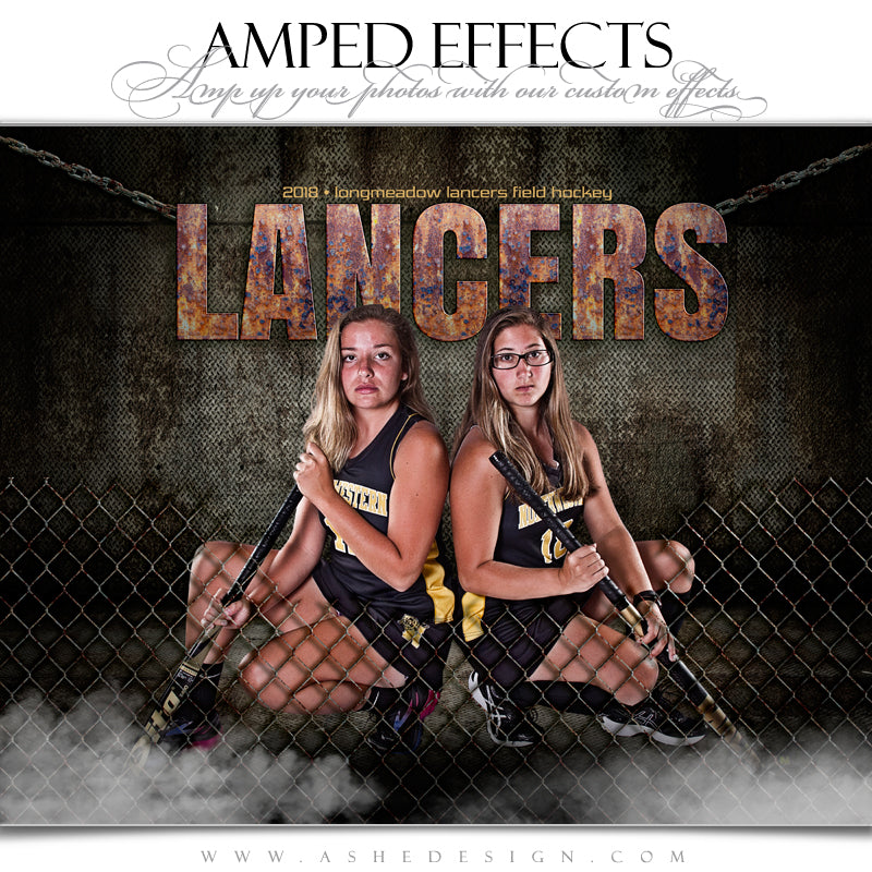 Ashe Design 16x20 Amped Effects Sports Poster - Fenced In