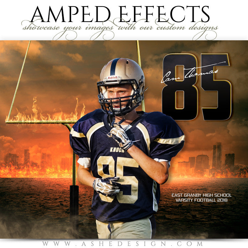 Ashe Design 16x20 Amped Effects Sports Photography Photoshop Templates Inferno Football