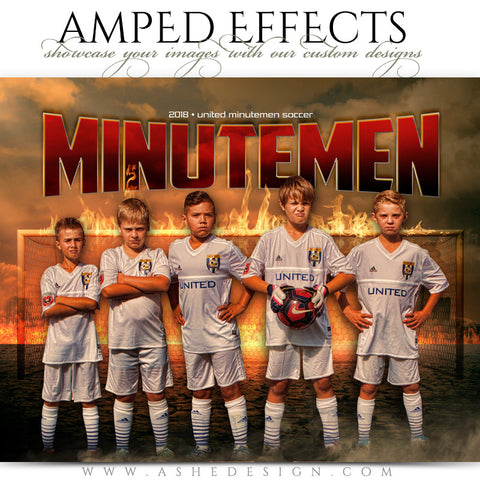 Ashe Design 16x20 Amped Effects Sports Photography Photoshop Templates Inferno Soccer