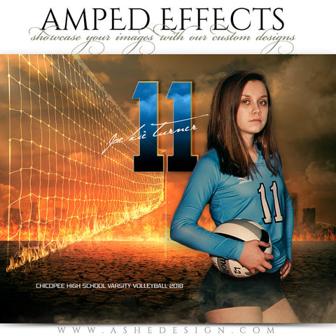 Ashe Design 16x20 Amped Effects Sports Photography Photoshop Templates Inferno Volleyball