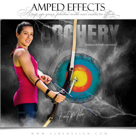 Ashe Design 16x20 Amped Effects Sports Poster - Lightning Storm  Archery