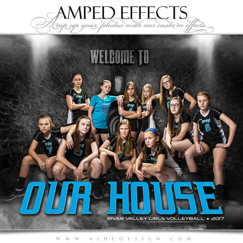 Ashe Design 16x20 Amped Effects Sports Photography Photoshop Templates Poster Visitor Entrance