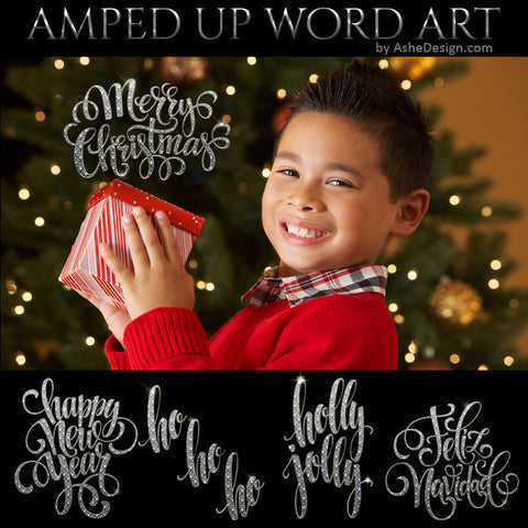 Amped Up Word Art Set - Holiday Bling