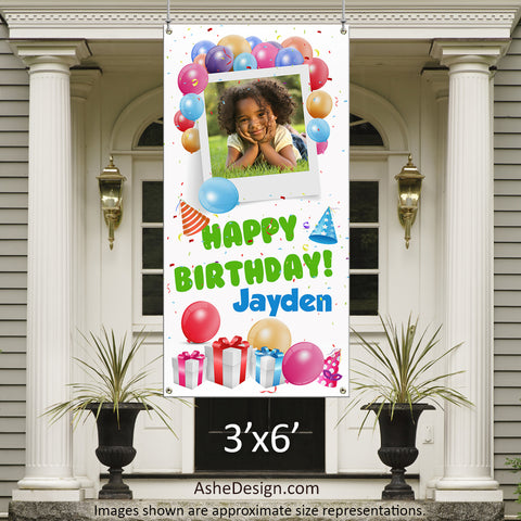 Photo Banner 3'x6' - Balloon Birthday