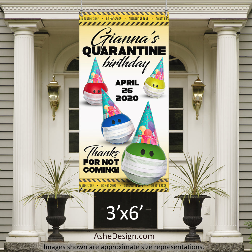 Photo Banner 3'x6' - Quarantine Birthday