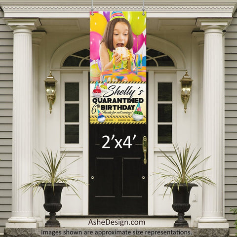 Photo Banner 2'x4' - Quarantine Birthday Photo