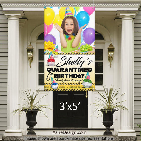 Photo Banner 3'x5' - Quarantine Birthday Photo
