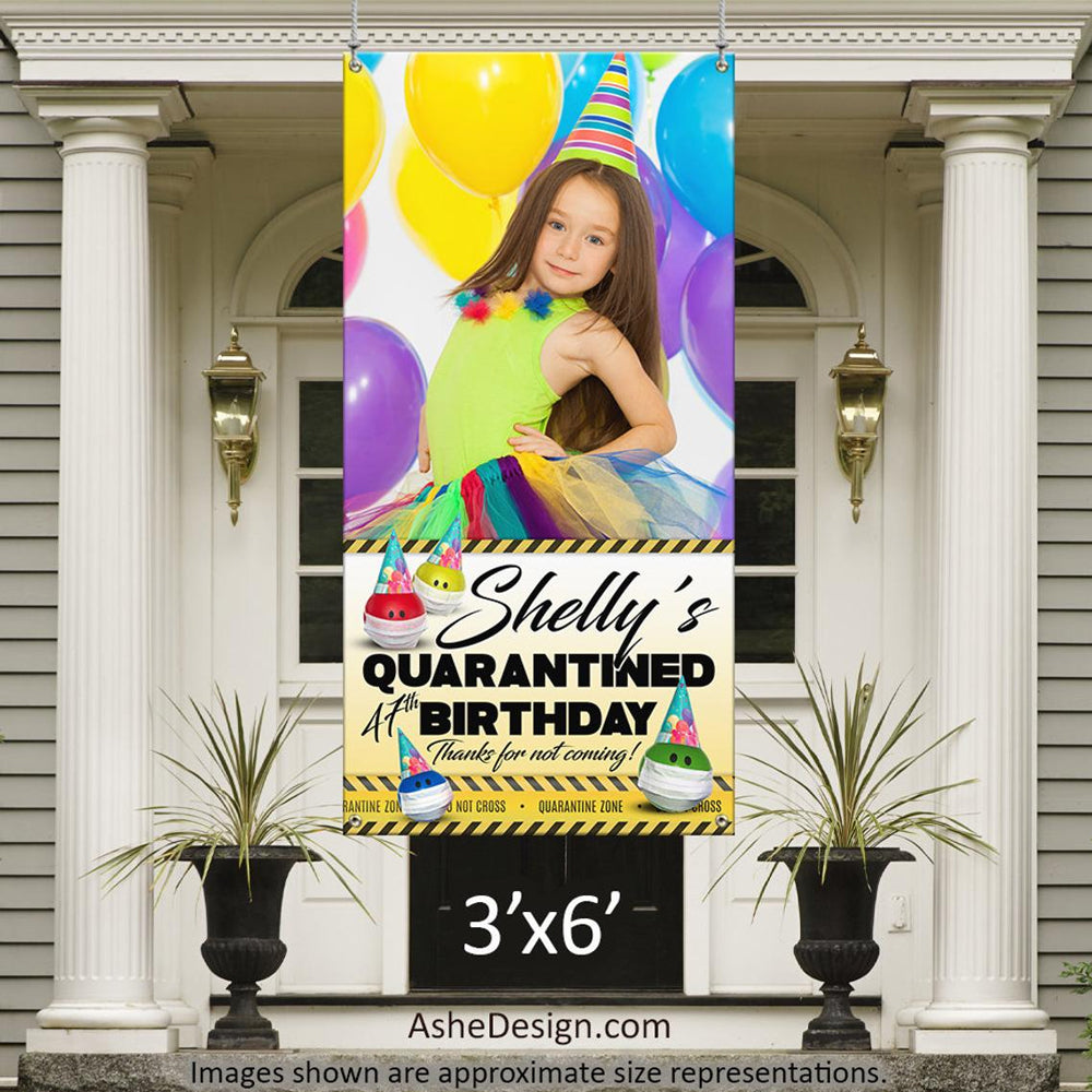 Photo Banner 3'x6' - Quarantine Birthday Photo