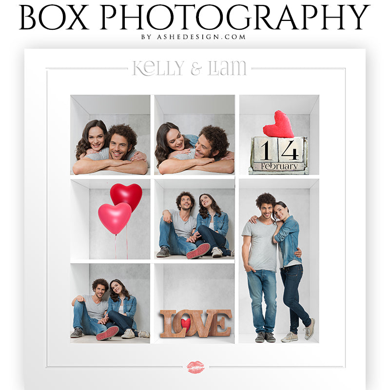 Box Session Photography - Valentine's Day Collage