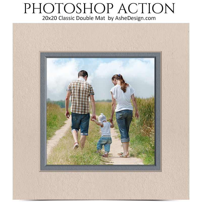 Photoshop Action | 20x20 Classic Double Mat