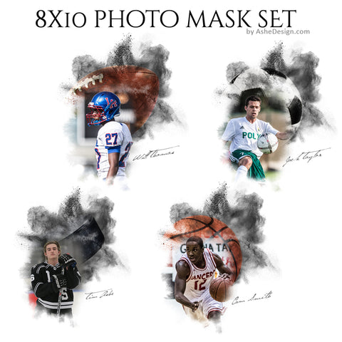 Designer Gems 8x10 Photo Masks - Powder Explosion Set 1