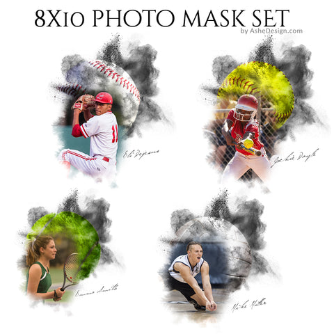 Designer Gems 8x10 Photo Masks - Powder Explosion Set 2