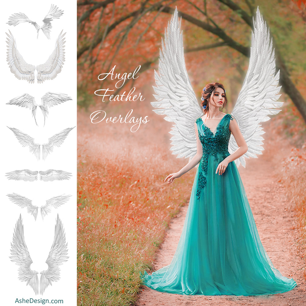 Designer Gems - Angel Feather Overlays