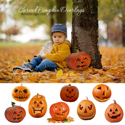 Designer Gems - Carved Pumpkin Overlays