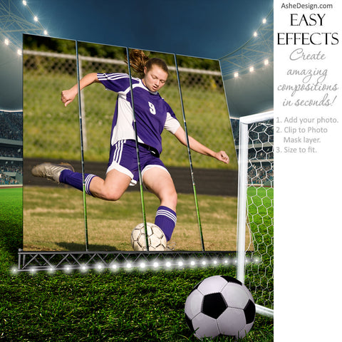Ashe Design 16x20 Easy Effects - Big Screen Soccer Portrait