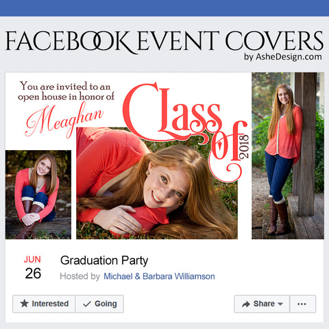 Ashe Design Facebook Event Theme Cover - Simply Worded Grad