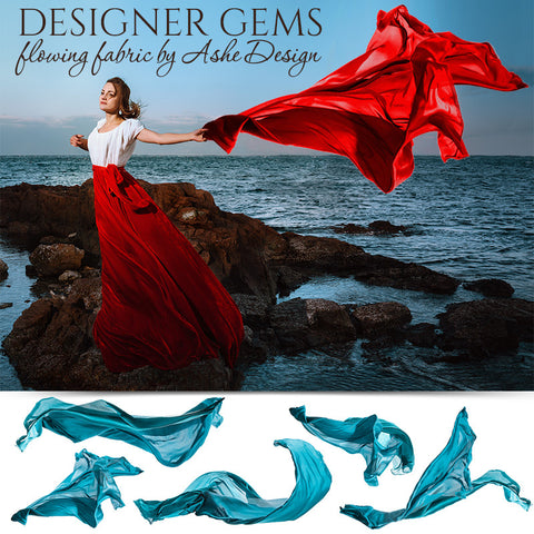 Designer Gems - Flowing Fabric Overlays