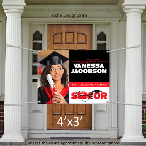 4x3 Graduation Banner - 2020 Senior Strong Wide