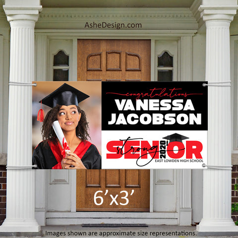 6x3 Graduation Banner - 2020 Senior Strong Wide