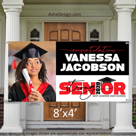 8x4 Graduation Banner - 2020 Senior Strong Wide