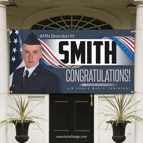 6x3 Graduation Banner - American Military