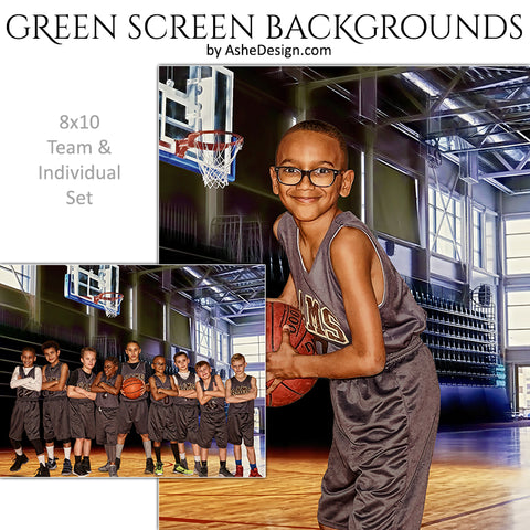 Green Screen Backgrounds - Gym Basketball