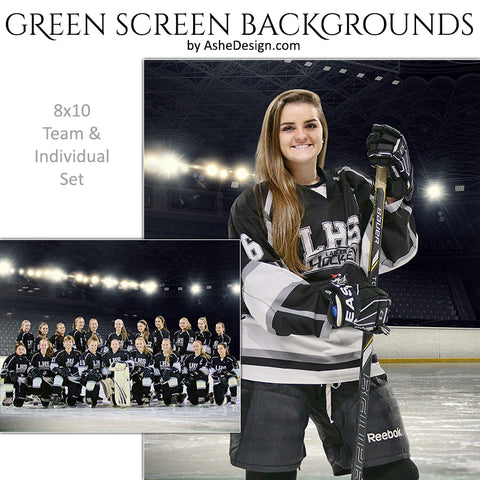 Green Screen Backgrounds - Stadium Hockey