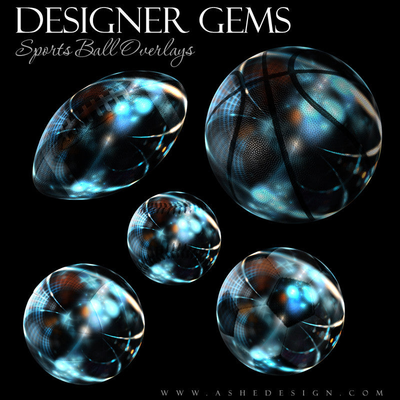 Designer Gems - High Gloss Sports Ball Overlays