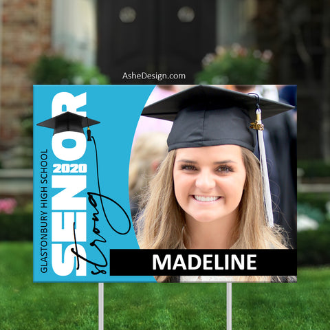 Lawn Sign 18x24 - 2020 Senior Strong Photo