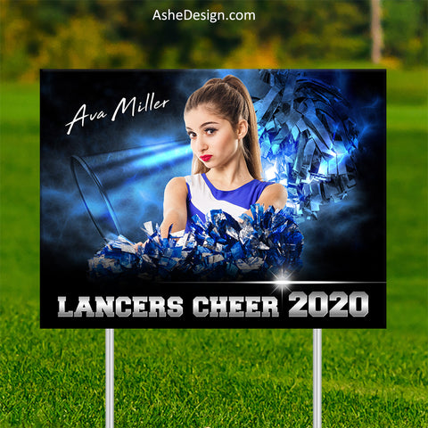 Lawn Sign 18x24 - Electric Explosion Cheer