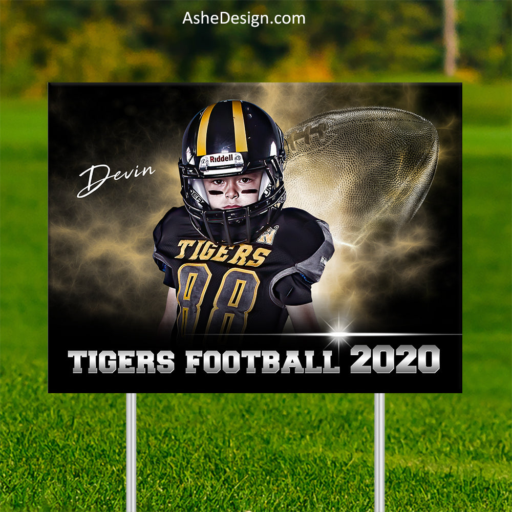 Lawn Sign 18x24 - Electric Explosion Football