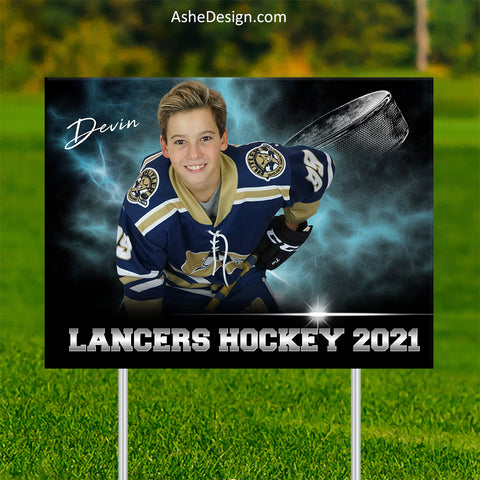 Lawn Sign 18x24 - Electric Explosion Hockey