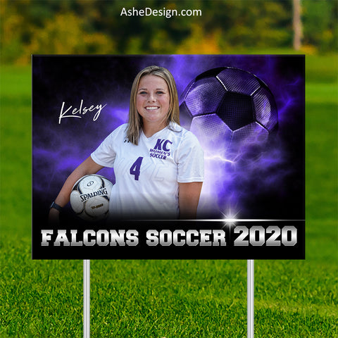 Lawn Sign 18x24 - Electric Explosion Soccer