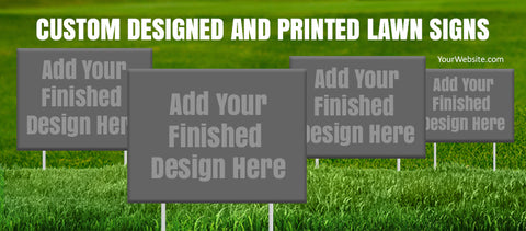 Mockup - Facebook Timeline Photo Lawn Signs