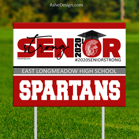 Lawn Sign 18x24 - 2020 Senior Strong Lower Mascot