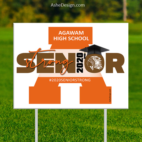 Lawn Sign 18x24 - 2020 Senior Strong Single Letter