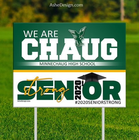 Lawn Sign 18x24 - 2020 Senior Strong Slogan