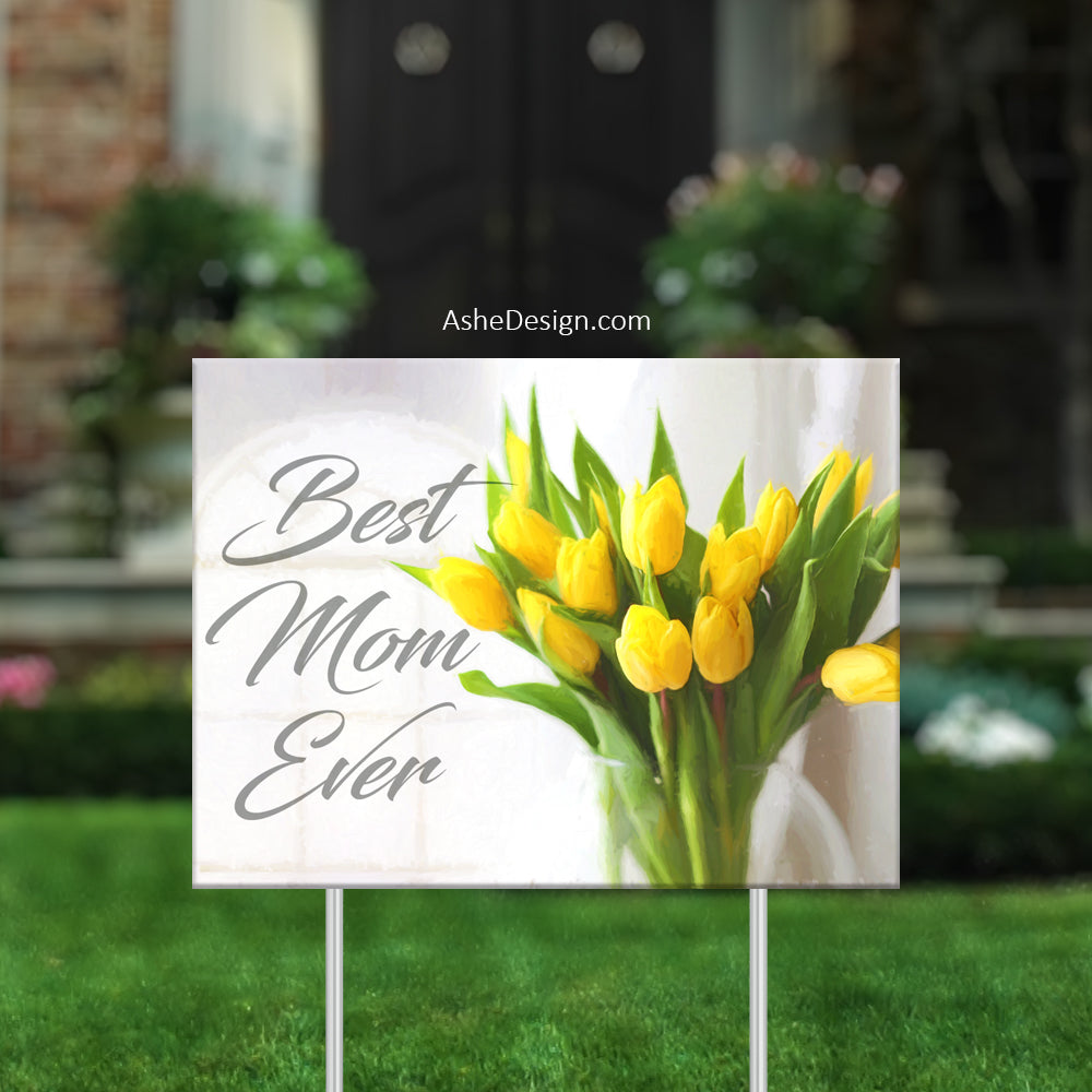 Lawn Sign 18x24 - Lawn Bouquets - Yellow Tulips