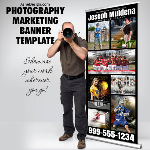 "Photography Marketing Banner - Simply Stated 33""x85"""