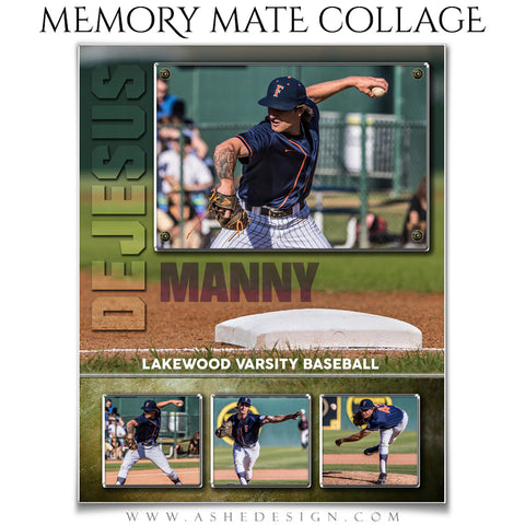 Ashe Design 8x10 Sports Memory Mate - Baseball VT
