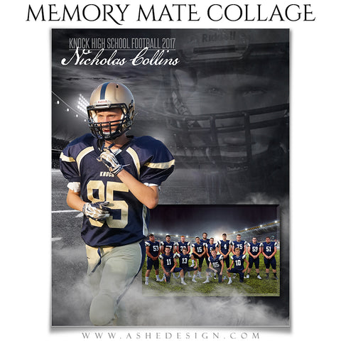 Ashe Design 8x10 Sports Memory Mate - Dream Weaver Football VT
