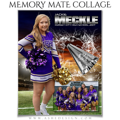 Ashe Design 8x10 Sports Memory Mate - Smashing Through Cheer VT