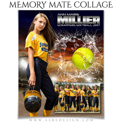 Sports Memory Mates - Smashing Through Softball