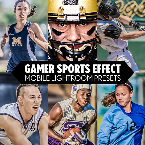 Mobile Lightroom Presets for Cell Phone Editing - Gamer Sports Effect