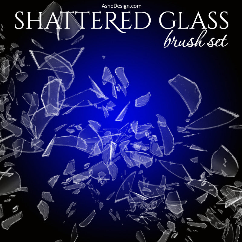 Designer Gems - Photoshop Brush Set - Shattered Glass