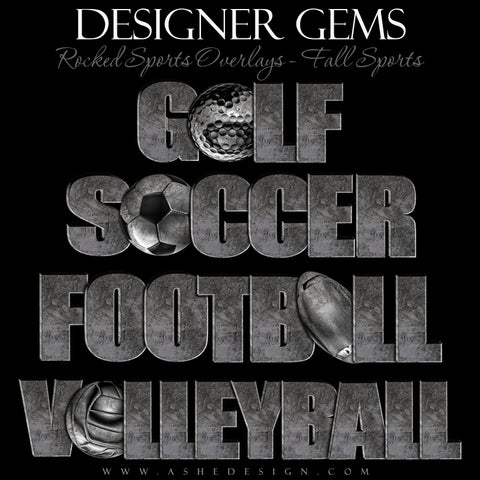 Designer Gems - Rocked Sports Overlays - Fall Sports