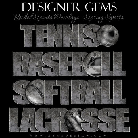 Designer Gems - Rocked Sports Overlays - Spring Sports