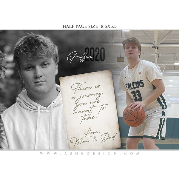 Ashe Design | Senior Yearbook Ad | Photoshop Templates | Half Page