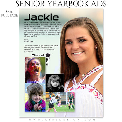 Ashe Design Senior Yearbook Ads