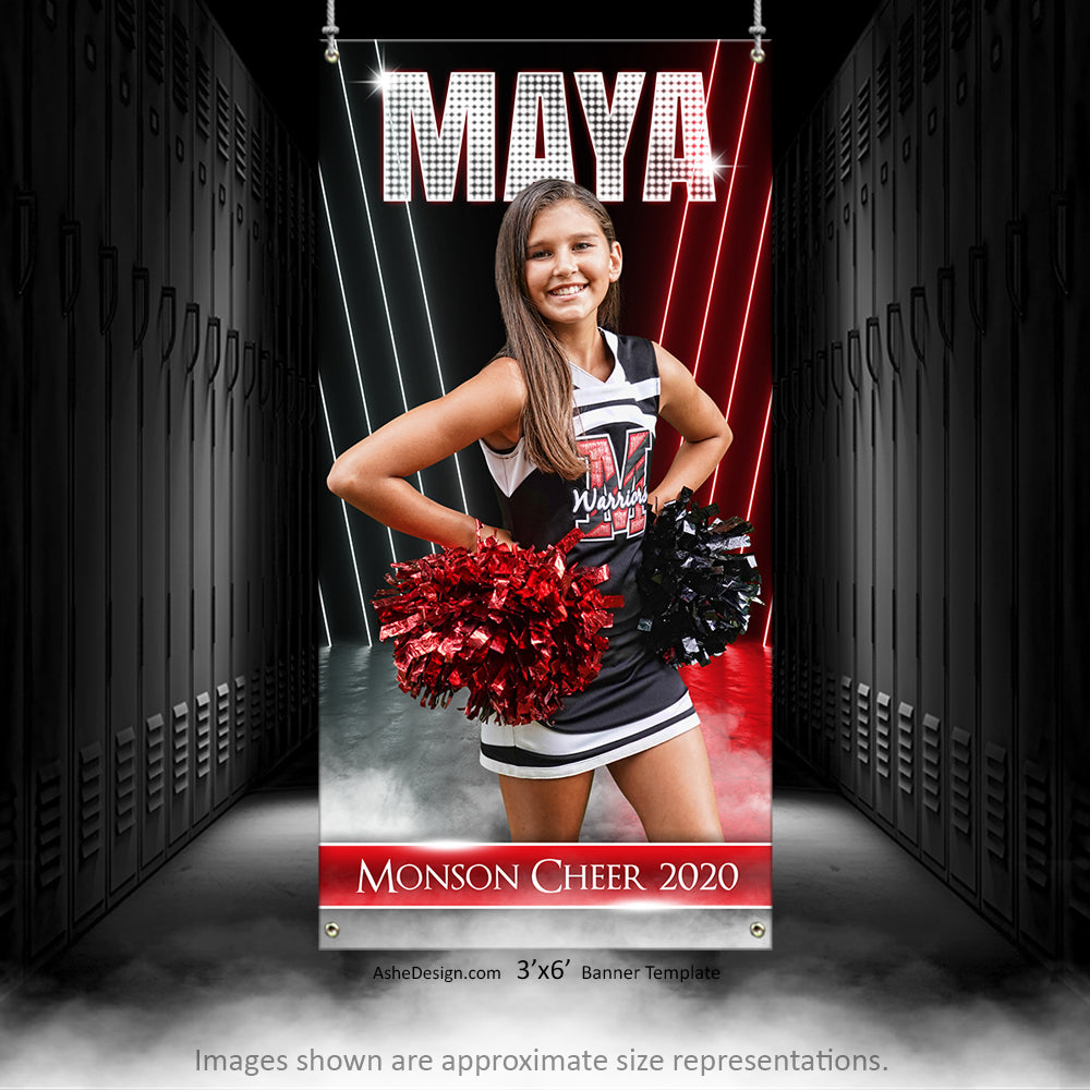 3x6 Amped Sports Banner - All Star Cheer